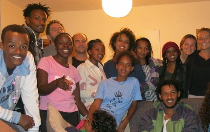 Grupo voluntarios en etiopia