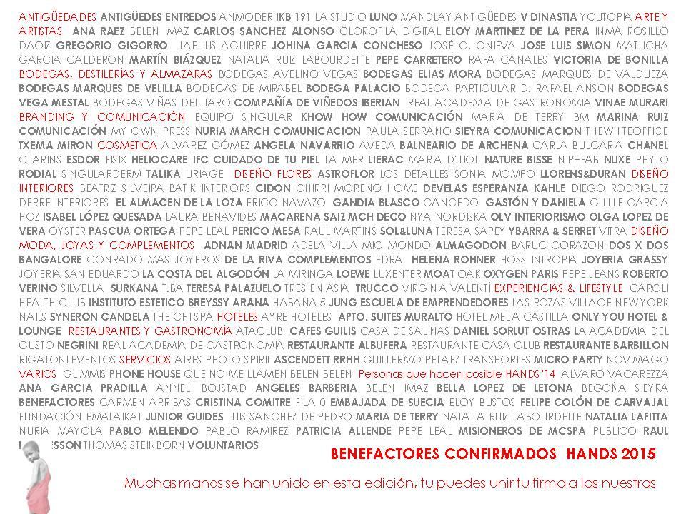 Benefactores 2015
